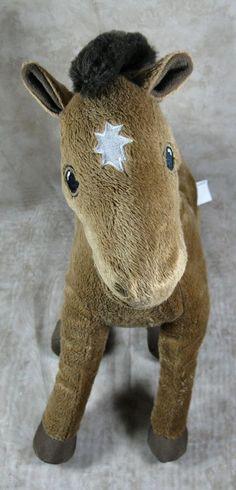 """Ikea 13"""" Plush Horse Okenlopare Brown Sunburst Star Pony Stuffed Animal Toy #Ikea"""