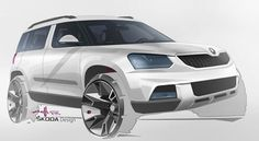 Skoda rendering by our former Lahti Institute of Design student- Antti Savio