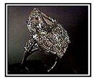 Jacqueline Kennedy Onassis - 40 carats  Now this is what you'd call a rock! Greek shipping magnate Aristotle Onassis bestowed the 40-carat piece of bling on the former US first lady, dubbing her Jacquie O. Also known as the Lesotho III diamond ring.