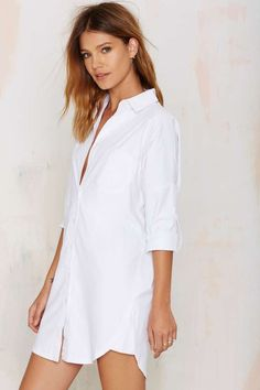 Nasty Gal Risky Biz Shirt Dress - Shirts + Blouses   Tops