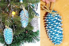 Pine Cone Ornament Crafts | ... with pine cones | Pine cone Christmas ornaments | art ideas crafts