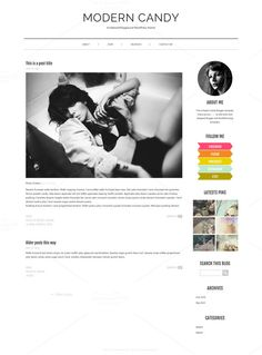 Modern Candy-Fashion WordPress Theme by Mlekoshi Playground on Creative Market