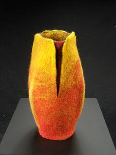 Bud vase, felted vessel