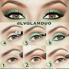 Green sparkly eyez!