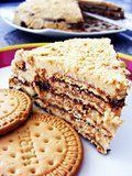 Bolo   de Bolacha literally means Cookie/Biscuit Cake. Well, I'm not sure you can label it as a cake as I traditionally have the idea o...