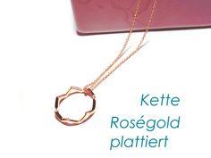 Kette+Roségold+vergoldet+Ring++von+DeineSchmuckFreundin+-+Schmuck+und+Accessoires+auf+DaWanda.com