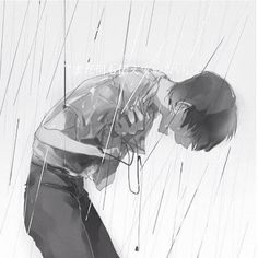 Lyrics: [Hook] sorry that im not enough sorry that i just give up when the going gets tough all i ever do is run sorry that im not enough im not enough 4 am in my room and im high again always tr Anime Boy Crying, Sad Anime Girl, Anime Guys, Sad Artwork, Manga Art, Anime Art, Dark Art Illustrations, Sad Drawings, Vent Art