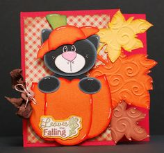 Paper Creations by Kristin: Pumpkin Cat Fall Card