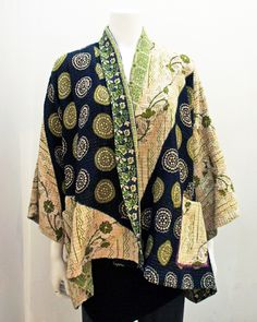 MIEKO MINTZ - Kantha Jacket Interesting colors and placement of fabrics