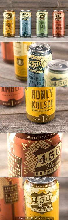 450 North Brewing Co Beer Packaging Design #PD