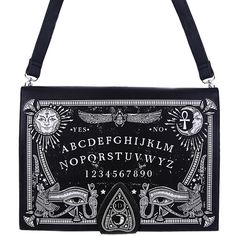 Hell's Boutique - Ouija Board Bag Black Goth Occult Witch HellsBoutique.com