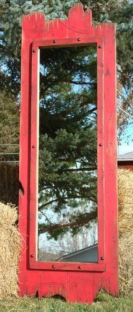 Cowgirl Barnwood Full Length Mirror