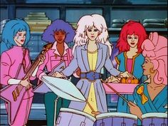 When she kept it all together with a wide belt. | 27 Times Jem's Outfits Were Truly, Truly, Truly Outrageous