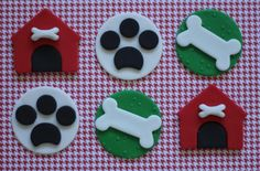 Fondant Puppy Dog Cupcake Cake Toppers - Perfect For Birthdays, Weddings, Special Occasions by Les Pop Sweets on Gourmly