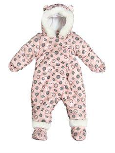 LOGO PRINTED NYLON BABY BUNTING