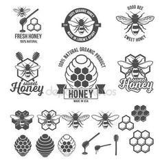 ダウンロード - 蜂蜜ラベル セット ビンテージ フレーム — ストックイラストレーション #105386540