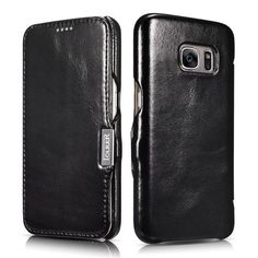 ICARER Vintage Series Genuine Leather Cover for Samsung Galaxy S7 G930