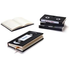 """Peleg Design's """"Video Notebook"""" bears an uncanny resemblance to a VHS cassette, and comes with labels for extra verisimilitude. Video Notebook (via Neatorama) Vhs Cassette, Vhs Tapes, Vhs Crafts, Design3000, Recycling, Reuse Recycle, Cool Notebooks, Retro Videos, Lined Notebook"""