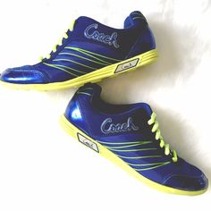 Coach Darla Trainers Very cool! These high quality trainers will keep you going through your shopping marathon! Good condition, clean, small scratch on right toe as shown. Coach Shoes Sneakers