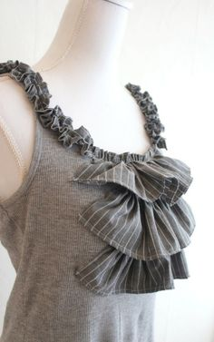 Upcycling Shirts...Luv this idea!!! Great way to upscale plain tees and recycle old shirts at the same time, it's a win/win!
