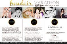 Boudoir Marathon at the Molly Marie Photo Studio | Molly Marie Photography