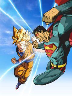 Superman vs Goku - Goku wins!!!!