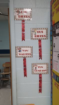Clip students' name's onto the ribbon with a clothes pin- so easy to move as needed :) Flying into First Grade