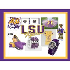 """LSU Tigers"" by sawilson98 on Polyvore"
