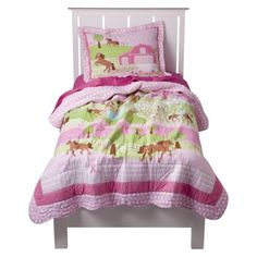Circo® Pretty Horses Quilt Set from Target. Quilt and Sham.