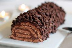 Une recette inratable de Bûche de Noël au chocolat Thermomix sur Yummix • Le blog culinaire dédié au Thermomix !