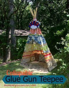 DIY teepee from mommy is coocoo