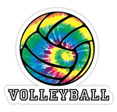 """Tie Dyed Volleyball"" Stickers by shakeoutfitters 