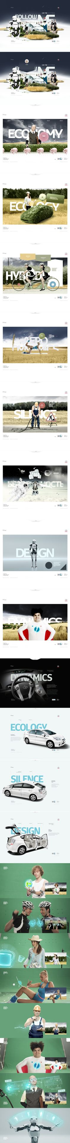 Toyota Prius by Alex Kudryavtsev, via Behance - #web #design