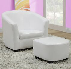 Play Tables And Chairs 66743: Monarch I 8104 White Leather Look Juvenile  Chair