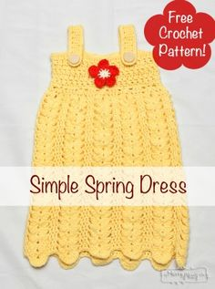 Crochet Spring Dress with Flower - Free pattern!