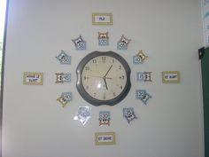 Clock Labels, School Hacks, School Tips, Teaching French, Teaching Tools, Teaching Ideas, Classroom Management, Deco, Maths
