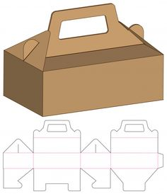 Mock-up - Box packaging die cut template design. Paper Box Template, Box Templates, Origami Templates, Box Packaging Templates, Clay Box, Diy Gift Box, Gift Boxes, 3d Modelle, Box Patterns