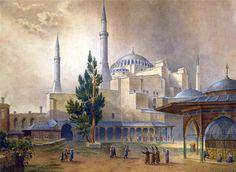 В Истамбуле, Константинополе ~ Gaspard Fossati 'Aya Sofia Constantinople'
