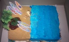 Ocean Surf Theme Birthday Cake www.cakesbydey.com Check us out on Facebook!