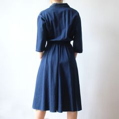 robe en jean Monopole, Jeans, High Neck Dress, Dresses, Fashion, Jeans Dress, Turtleneck Dress, Vestidos, Moda