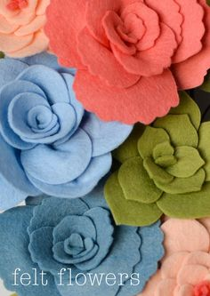 We have created this post specifically for those of you who are interested in the the Plush Floral dies! Using these dies with felt opens up a whole lot of creative opportunities - though you may be wondering how to get started, so we've put together a basic guide to help you. After all, dies can be used for so much more than just cardmaking! Many of you have asked about assembling the flowers once they are die cut, so hopefully the following pictures and instructions will help get you…