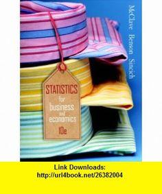 Statistics for Business  Economics Value Package (includes MyMathLab/MyStatLab Student Access Kit) (9780321594785) James T. McClave, P. George Benson, Terry Sincich , ISBN-10: 0321594789  , ISBN-13: 978-0321594785 ,  , tutorials , pdf , ebook , torrent , downloads , rapidshare , filesonic , hotfile , megaupload , fileserve