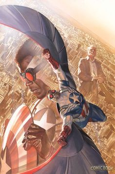 All-New Captain America #1 variant cover by Alex Ross