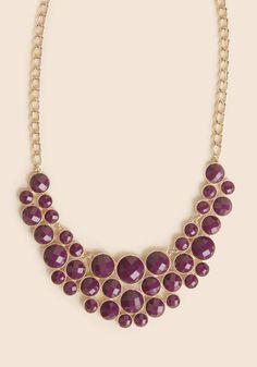 at Ruche // purple bubbles necklace