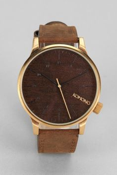 KOMONO Winston Gold Wood Watch