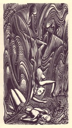 50 Watts: John Buckland Wright, wood engraving for Endymion