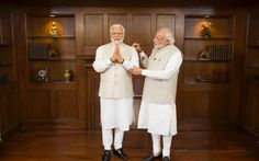 New wax figures of Indian Prime Minister, Narendra Modi, today took up residence at Madame Tussauds in Singapore, Hong Kong and Bangkok, after the statesman met the wax figure destined for the London attraction at a private viewing earlier this week.