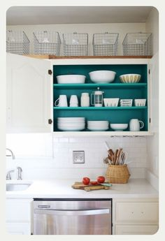 Painting inside kitchen cupboards | The Hip Soiree