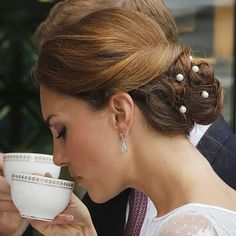 like the idea of using faux pearls in hair rather than flowers / jewels.. could glue on end of bobby pins