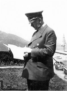 """putschgirl: """"Two candids of Hitler taken by Eva Braun on the Berghof terrace in March, 1941. """""""